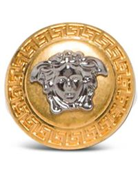 Versace - Medusa Ring In Gold And Silver Metal - Lyst
