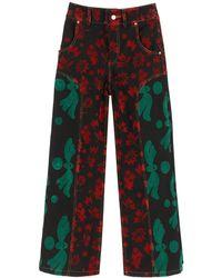 Chopova Lowena Flocked Jeans - Red