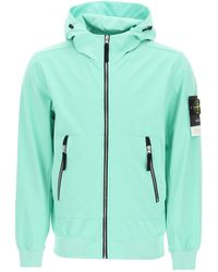Stone Island Light Soft Shell-r Jacket - Green