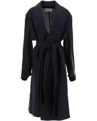 Maison Margiela Destructured Coat 40 Wool - Black