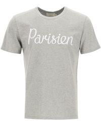 Maison Kitsuné - Parisien Print T-shirt - Lyst
