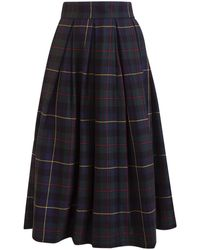 Department 5 Department Five Skirt With Check Print - Blue
