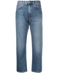 Totême Original Twisted Seam Cropped Jeans - Blue