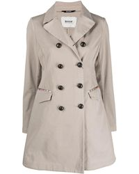Bazar Deluxe Double-breasted Trench Coat - Natural