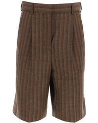 Acne Studios Wool And Cotton Shorts - Multicolor