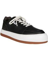 Sunnei Black Leather Sneakers
