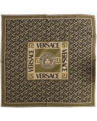 Versace The Medusa Silk Scarf - Green