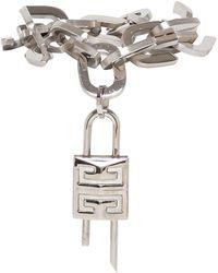 Givenchy G Link Lock Bracelet With Padlock - Metallic