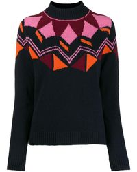Paul Smith Geometric Knit Sweater - Black
