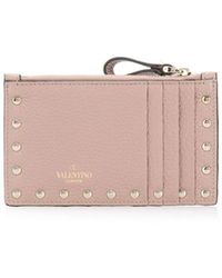 Valentino Garavani Valentino Garavani Rockstud Card Holder - Pink