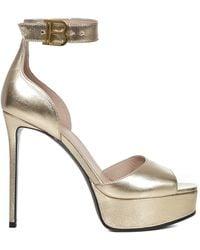 Balmain Sandals Golden - Multicolour
