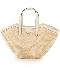 Mark Cross Madeline Straw Basket Bag - Multicolour