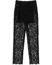 Dolce & Gabbana Cordonetto Lace Pants - Black