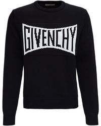 Givenchy Black Jersey Jumper With Front Logo