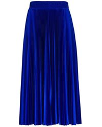Balenciaga Blue Pleated Tracksuit Skirt