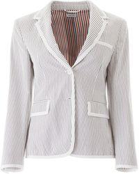 Thom Browne Striped Blazer - Gray