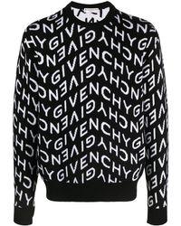Givenchy Refracted Intarsia-knit Jumper - Black