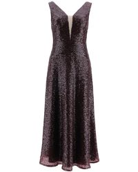 In the mood for love Leander Sequined Dress - Purple