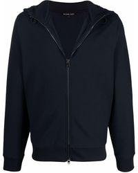 Michael Kors Zip-up Long-sleeved Hoodie - Blue