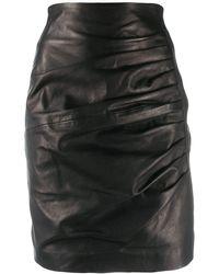 P.A.R.O.S.H. - Drape Detail Skirt - Lyst