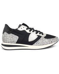 Philippe Model Black And Silver Trpx Sneakers - Multicolour