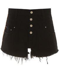 Amiri High-waisted Denim Shorts - Black