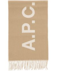 A.P.C. Angele Wool Scarf - Natural