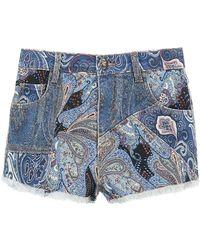 Etro Ibiza Denim Shorts 27 Denim - Blue