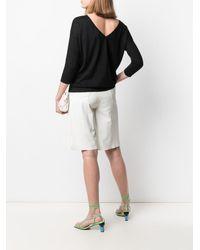 Snobby Sheep V-back Silk-blend Jumper - Black