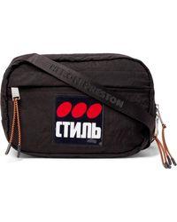 Heron Preston Ctnmb Dots Shoulder Bag - Black