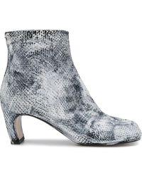 Maison Margiela - Tibi Snakeskin-effect Boots - Lyst