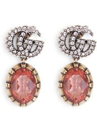 Gucci Gg Crystals Earrings - Multicolour