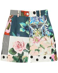 Dolce & Gabbana Patchwork Shorts - Multicolor