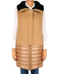 Fay Quilted Vest Camel - Natural