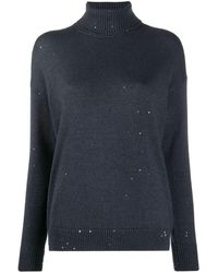 Brunello Cucinelli Sweaters Blue