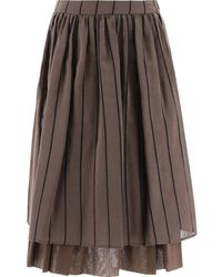 Peserico Other Materials Skirt - Brown
