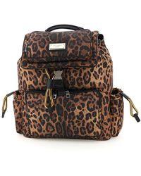 Dolce & Gabbana Dolce & Gabbana Sicily Leo-print Nylon Backpack - Black