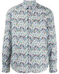 Paul Smith Floral Button-down Shirt - Blue