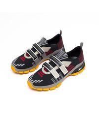Prada Patterned Mesh Sneakers - Multicolour