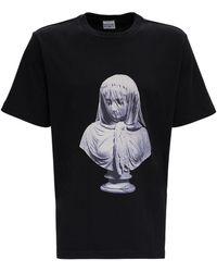 Trussardi Oversized Cotton T-shirt With Print - Black