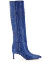 Paris Texas Pointed Toe Boots - Blue