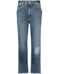Givenchy Chain-detail High-rise Jeans - Blue