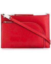 Rick Owens Larry Club Pouch Shoulder Bag - Red