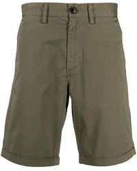 Sun 68 Chino Stretch-cotton Shorts - Green
