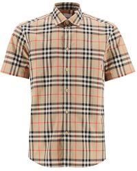 Burberry Caxton Shirt Vintage Check - Natural