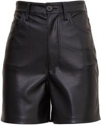 Nanushka Leana Shorts In Vegan Leather - Black