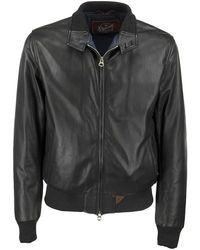 Stewart Nuvola Etere Drowne-slim - Genuine Lambskin Jacket - Black