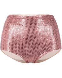Forte Forte High-waisted Sequin Briefs - Pink