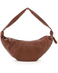 Lemaire Croissant Large Shoulder Bag - Brown