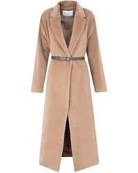 Fabiana Filippi Wool Long Coat - Multicolour